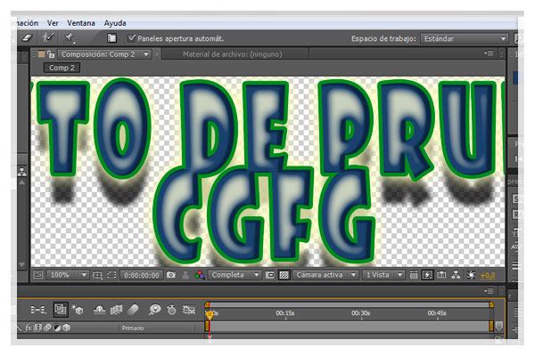 Potsproduccion Texto y estilos de capa con After Effects